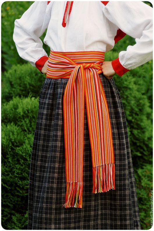 Одежда ручной работы. Ярмарка Мастеров - ручная работа. Купить Пояс-кушак для народного костюма. Handmade. Пояс, славянский стиль