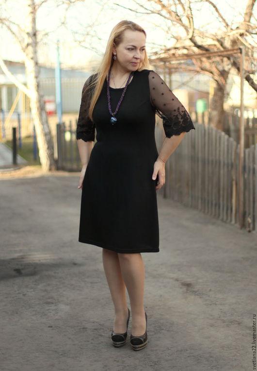 """Платья ручной работы. Ярмарка Мастеров - ручная работа. Купить Платье - футляр """"Офисно- нарядное"""". Handmade. Черный, вечернее платье"""