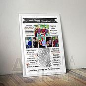 Праздничные постеры ручной работы. Ярмарка Мастеров - ручная работа Постер для семьи. Handmade.