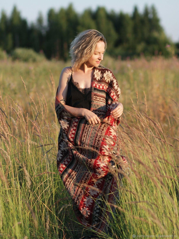 Большой женский шарф из шерсти и акрила, Палантины, Москва,  Фото №1