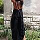 Платья ручной работы. Экстравагантное асимметричное платье, пляжное, повседневное лененое. Мария Иванова (StudioMariya). Ярмарка Мастеров. Ассиметричное платье