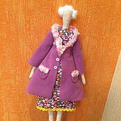 Куклы и игрушки ручной работы. Ярмарка Мастеров - ручная работа Тильда в пальто. 55 см.. Handmade.