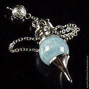 Фен-шуй и эзотерика handmade. Livemaster - original item Aquamarine 40mm Gemstone Ball Pendulum Chakra Pendant. Handmade.