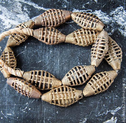 Для украшений ручной работы. Ярмарка Мастеров - ручная работа. Купить Африканские латунные крупные ромбические бусины. Handmade. Золотой