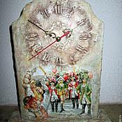 Часы ручной работы. Ярмарка Мастеров - ручная работа Часы настольные Карнавал. Handmade.