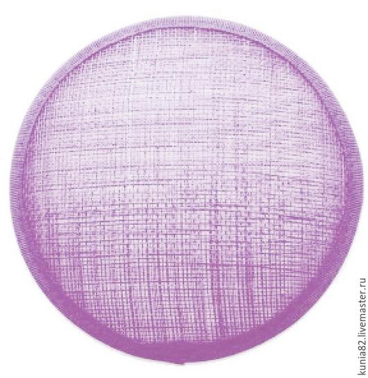 Основа для шляпки, вуалетки, синамей, диаметр 11 см. Цвет: НЕЖНАЯ СИРЕНЬ, полуфабрикат для изготовления шляп и головных уборов. Анна Андриенко. Ярмарка