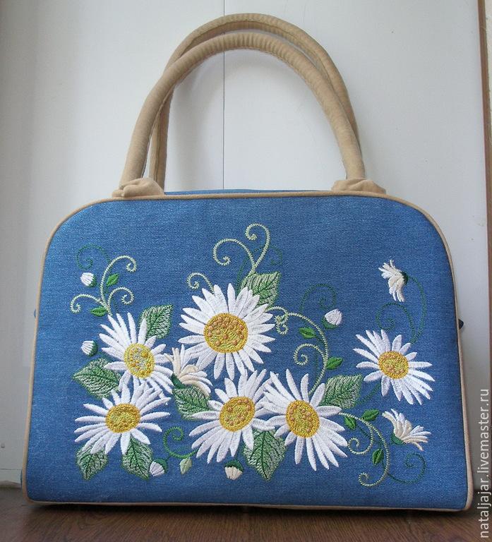 Машинная вышивка на сумку