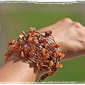 """Украшения ручной работы. Ярмарка Мастеров - ручная работа """"Сальдис"""" льняной браслет. Handmade."""