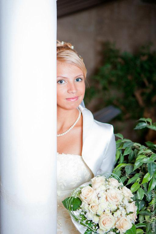 Свадебные цветы ручной работы. Ярмарка Мастеров - ручная работа. Купить Букет невесты классика 2. Handmade. Кремовый, невеста
