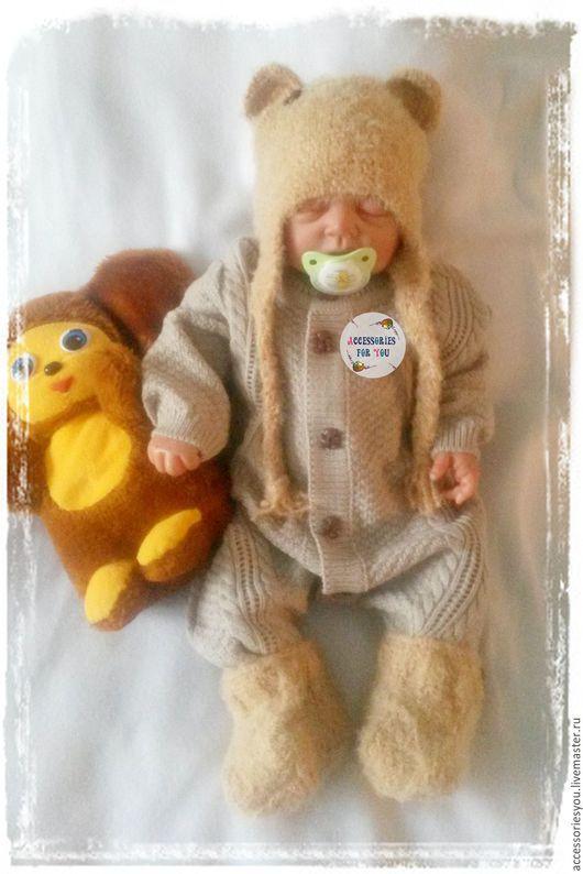 """Одежда ручной работы. Ярмарка Мастеров - ручная работа. Купить Комбинезон """"Миш-ка""""для малыша. Handmade. Бежевый, комбенизон"""