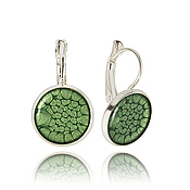 Украшения handmade. Livemaster - original item Malachite earrings lightweight women`s
