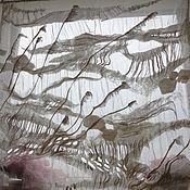 """Для дома и интерьера ручной работы. Ярмарка Мастеров - ручная работа Шторы нуно-войлок """"Волга"""". Handmade."""
