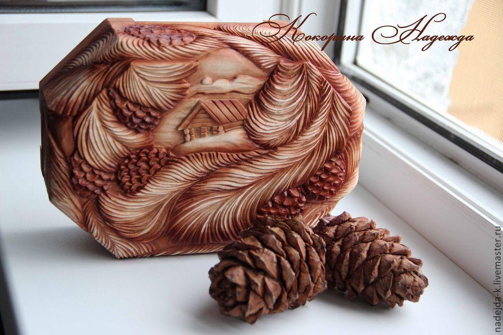 Шкатулки из дерево ручная работа