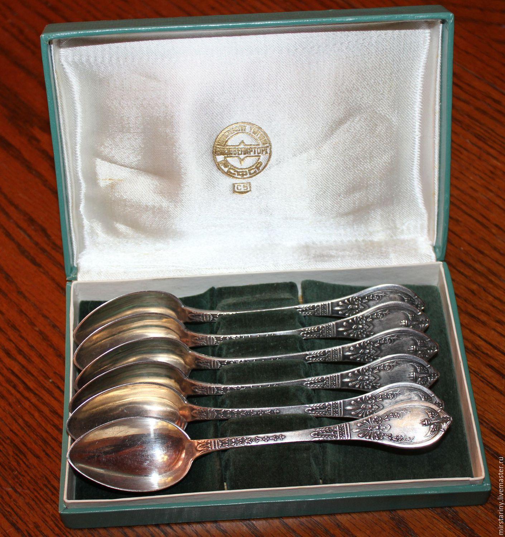 Набор чайных ложек из серебра скупка книг в твери
