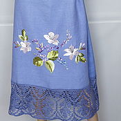 Одежда handmade. Livemaster - original item Dress linen-silk