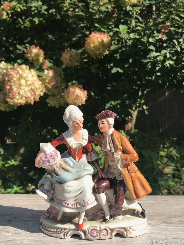 """Винтаж: Каподимонте, фарфор, """"Дама с кавалером"""", ГДР, раритет, Винтажные сувениры, Арнем, Фото №1"""