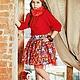 """Одежда для девочек, ручной работы. Ярмарка Мастеров - ручная работа. Купить Юбка для девочки """"Матрешка"""". Handmade. Ярко-красный, yansons"""