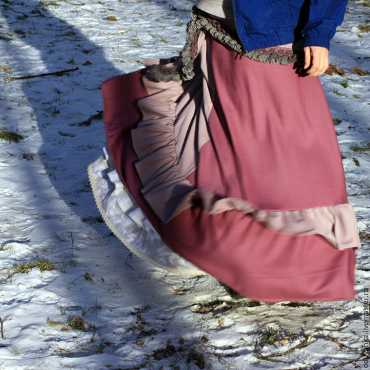 """Юбки ручной работы. Ярмарка Мастеров - ручная работа. Купить шерстяная юбка """"Нежная фиалка"""". Handmade. Юбка, теплая юбка"""