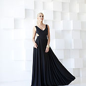 Одежда handmade. Livemaster - original item dress evening dress black floor. Handmade.