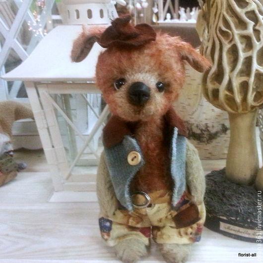 """Мишки Тедди ручной работы. Ярмарка Мастеров - ручная работа. Купить Собака Друзья Тедди """" Щенок Петя """". Handmade."""