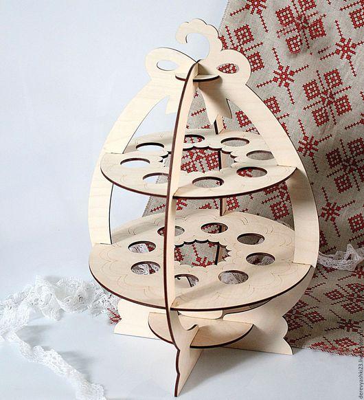 Подарки на Пасху ручной работы. Ярмарка Мастеров - ручная работа. Купить Большая подставка под пасхальные яйца. Handmade. Бежевый