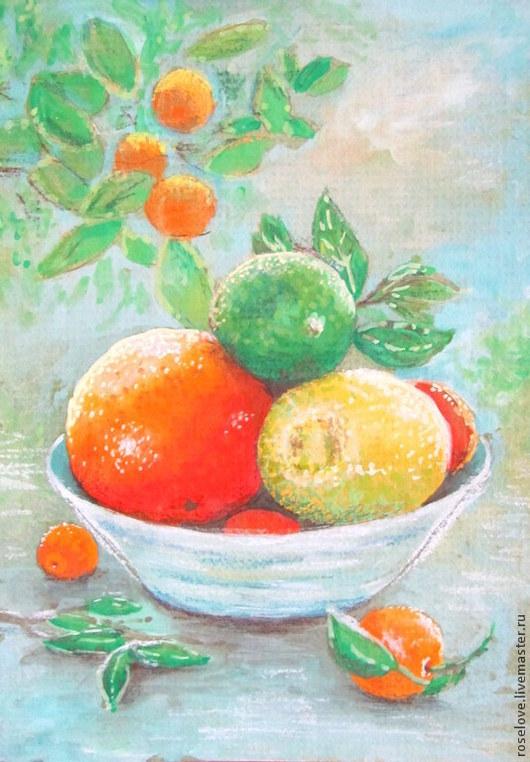 Картина `Витаминный рай` Катерины Аксеновой. Натюрморт,апельсины,мандарин цитрус