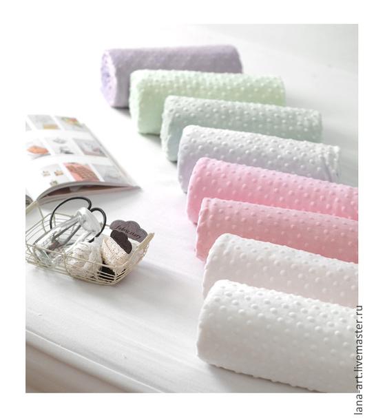 Шитье ручной работы. Ярмарка Мастеров - ручная работа. Купить Корейская ткань Minky Dot пастельных цветов. Handmade. Minky