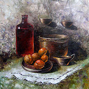 Картины и панно ручной работы. Ярмарка Мастеров - ручная работа Натюрморт с абрикосами. Handmade.