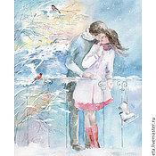 Картины и панно ручной работы. Ярмарка Мастеров - ручная работа Снежное свидание. Handmade.