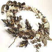 Украшения handmade. Livemaster - original item Vanilla Hops. necklace, earrings. jewelry set.. Handmade.