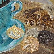 """Картины и панно ручной работы. Ярмарка Мастеров - ручная работа Картина маслом """"Море шоколада"""". Handmade."""