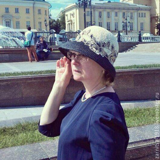 Шляпы ручной работы. Ярмарка Мастеров - ручная работа. Купить летняя шляпка Катерина. Handmade. Однотонный, шляпка, шляпка женская