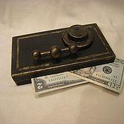 """Шкатулки ручной работы. Ярмарка Мастеров - ручная работа купюрница """" Сейф"""" шкатулка для денег. Handmade."""