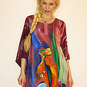 Платья ручной работы. Ярмарка Мастеров - ручная работа платье-Натюрморт(Матисс). Handmade.