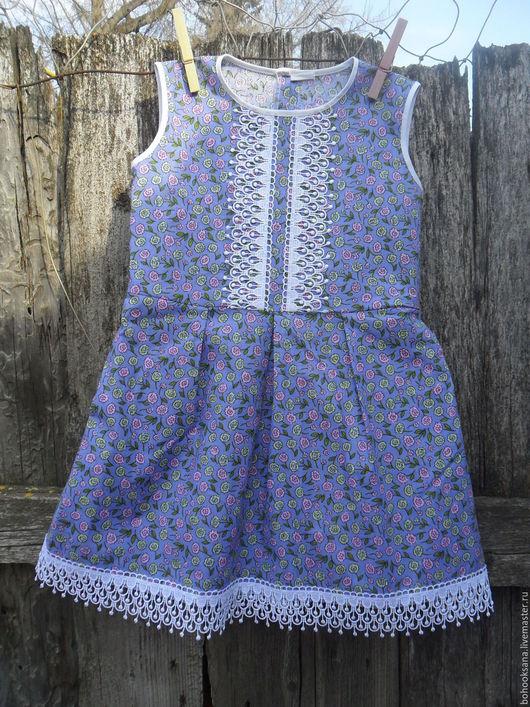"""Одежда для девочек, ручной работы. Ярмарка Мастеров - ручная работа. Купить """" ЛИЛОВОЕ"""" Платье на девочку ( хлопок) в стиле Бохо.. Handmade."""