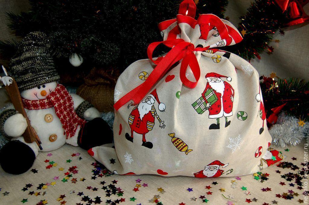 Подарочный мешочек к новому году