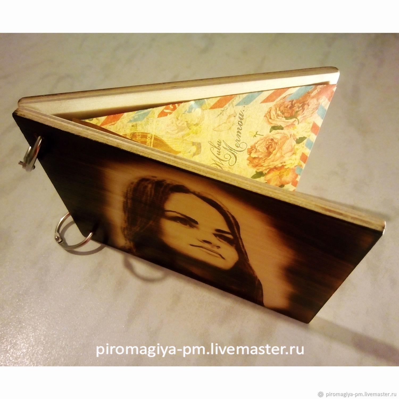 Открытка из дерева с портретом. Оригинальный подарок. Выжигание, Открытки, Балашиха,  Фото №1