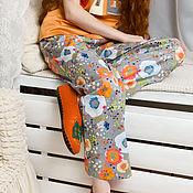 """Одежда ручной работы. Ярмарка Мастеров - ручная работа Брюки """"Цветочный long"""" из коллекции Bright кутюр. Handmade."""