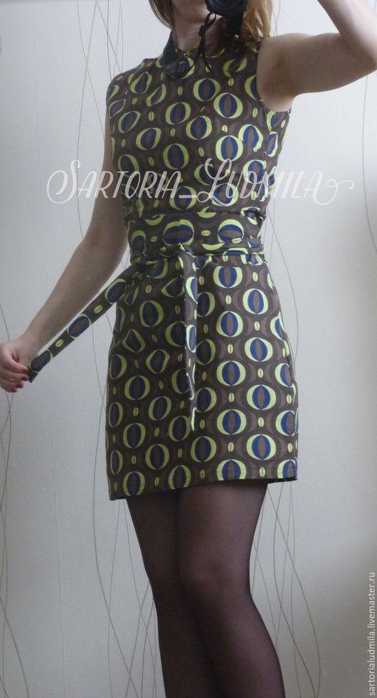 Платья ручной работы. Ярмарка Мастеров - ручная работа. Купить Летнее платье. Handmade. Комбинированный, приталенное платье, платье с принтом