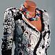 Blazers & Jackets handmade. Livemaster - handmade. Buy Jacket 'Night silver'.Friform, Original clothing, crochet, grey