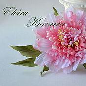 Украшения handmade. Livemaster - original item Silk flowers.Peony silk