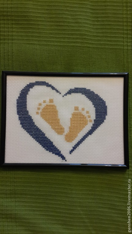 Подарки для новорожденных, ручной работы. Ярмарка Мастеров - ручная работа. Купить Ножки младенца. Handmade. Тёмно-синий, подарок, детям