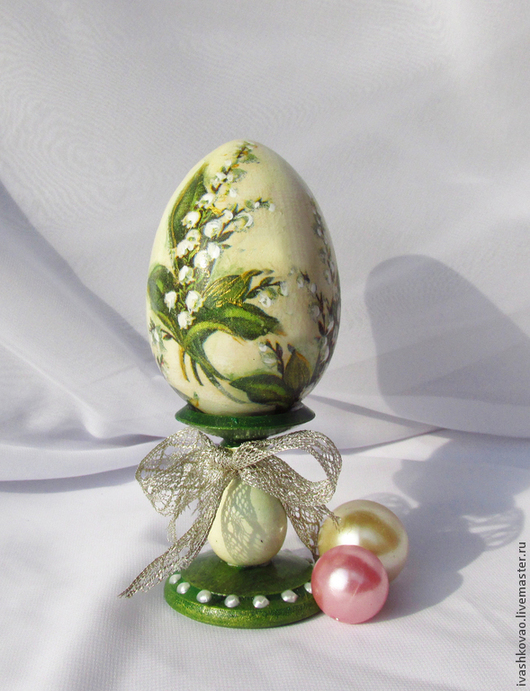 Подарки на Пасху ручной работы. Ярмарка Мастеров - ручная работа. Купить Яйцо пасхальное Ландыши. Handmade. Пасха