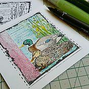 Материалы для творчества ручной работы. Ярмарка Мастеров - ручная работа Карточка для откраток. Handmade.