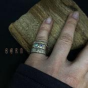 Украшения handmade. Livemaster - original item Silver triple ring. Handmade.