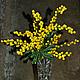 """Букеты ручной работы. Ярмарка Мастеров - ручная работа. Купить """"Головокружение"""" - букет мимозы. Handmade. Желтый, 8 марта подарок"""