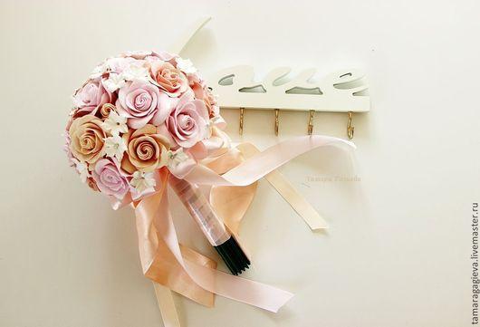 Свадебные цветы ручной работы. Ярмарка Мастеров - ручная работа. Купить Свадебный букет. Handmade. Кремовый, букет невесты