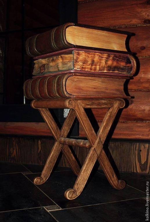 Мебель ручной работы. Ярмарка Мастеров - ручная работа. Купить тумбочка из книг. Handmade. Белый, прикольный подарок, хенд и мейд