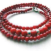 Necklace handmade. Livemaster - original item Red Coral Beads. Handmade.