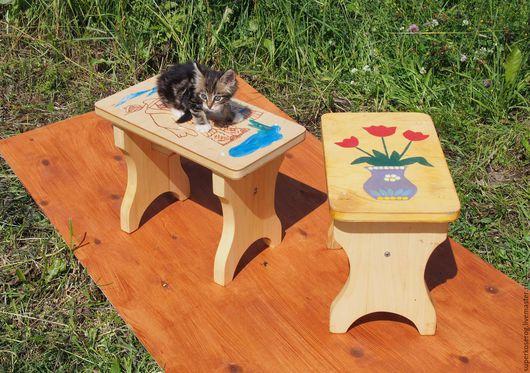 Мебель ручной работы. Ярмарка Мастеров - ручная работа. Купить Скамеечки со сплошным сиденьем. Handmade. Натуральное дерево